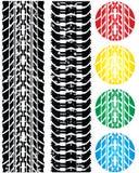 biltrycket tires olikt vektor illustrationer