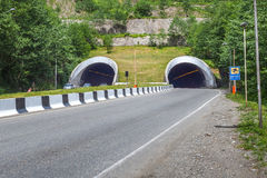 Biltunnel i närheten av Batumi, Adjara, Georgia Arkivfoto