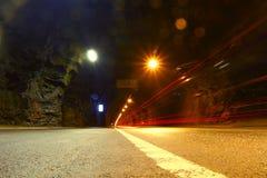 Biltunnel Underjordisk trafik norway Arkivbilder