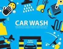 Biltvättbakgrund Arkivfoto