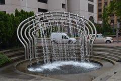 Biltvättspringbrunnen, avbildar 3 i Portland, Oregon royaltyfria bilder