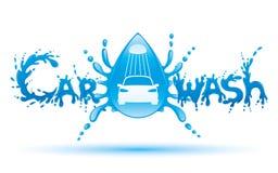 Biltvätttecken Arkivfoto
