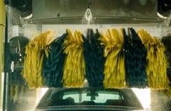 Biltvättvax och vatten Royaltyfria Bilder
