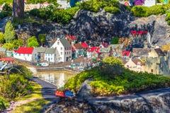 Bilund Dani, Kwiecień, - 30, 2017: Miniatury w Legoland, Bilund obraz royalty free