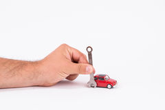 Bilunderhåll Arkivfoton