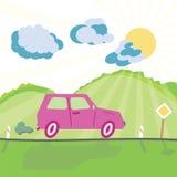 bilväg Fotografering för Bildbyråer