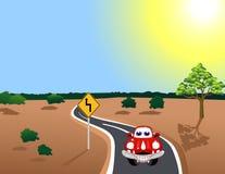 bilväg Arkivfoton