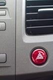 Bilventilationssystemet med severl knäppas och detaljer av modernt Arkivfoto