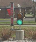 BilWash tackar dig att stoppa lampa Royaltyfria Foton