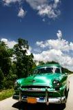Bilwintage i havannacigarren Kuba Arkivbilder