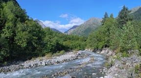 Bilyagidon-Fluss in Digoria, Kaukasus, Russland Stockbilder