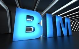 BIM - De bouwinformatie Modellering Royalty-vrije Stock Afbeeldingen