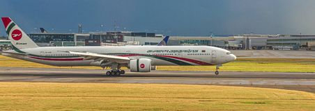 Biman Bangladesh Airlines. LONDON, UK - October 1, 2016: Heathrow Airport is the second busiest airport in the world by international passenger traffic, as well royalty free stock photo