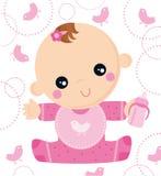 Bimba piccola Rosa Stockbild