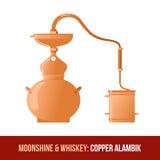 Bimber i whisky Miedziany alambik ilustracji