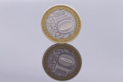 Bimetallic coin 2006 value of 10 rubles Royalty Free Stock Photography