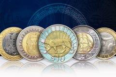Bimetallmünzen Lizenzfreies Stockbild