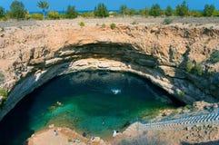 Bimmah Sinkhole in Hawiyat Najm Park, Oman Royalty Free Stock Image
