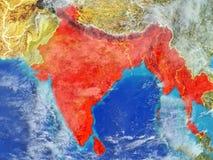 BIMSTEC państwa członkowskie na ziemi od przestrzeni ilustracja wektor