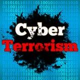Binär bakgrund för Cyberterrorism stock illustrationer