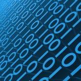 binär blue Arkivbild