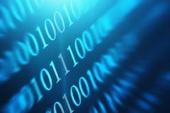 Binär Code-abstrakter Hintergrund Moderne Technologieinternet-Kommunikation und Netzdaten im Cyberspacekonzept, Stockfoto