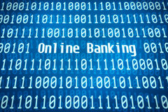 Binär Code mit dem Wort Online-Banking Lizenzfreies Stockbild