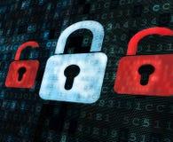 Binär Code mit Vorhängeschlössern Lizenzfreies Stockfoto