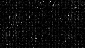 Binär Code-Schirm stock footage