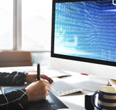 Binär Code-Stellen-Technologie-Software-Konzept Lizenzfreie Stockbilder