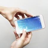 Binär Code-Stellen-Technologie-Software-Konzept Lizenzfreie Stockfotos