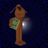binär din datorhunddatalista stock illustrationer