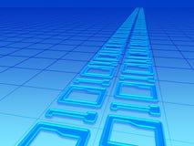binär kod 003 stock illustrationer