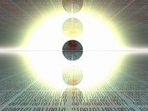 binär kod Arkivbilder