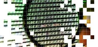 binär kod arkivbild