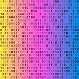 binär kod för bakgrund royaltyfria bilder