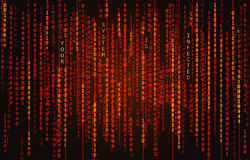binär kod för bakgrund Royaltyfria Foton