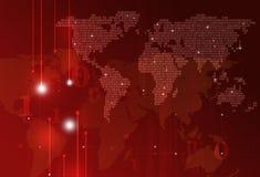 Binär kod för teknologi Royaltyfria Bilder