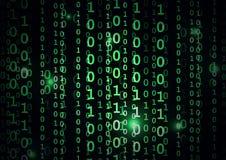 Binär kod i abstrakt bakgrund Arkivbilder