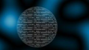 Binär kod med siffror som flyttar sig, begrepp av den digitala åldern royaltyfri illustrationer