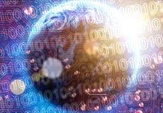 Binär kod på tekniskt avancerat Arkivfoton