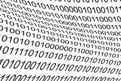 Binär kod som bakgrund Arkivfoto