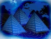 binär pyramid royaltyfri illustrationer