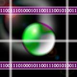binär ström royaltyfri illustrationer