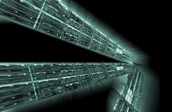 binär svart kod för bakgrund Royaltyfria Bilder