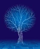binär tree vektor illustrationer