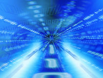 binär tunnel vektor illustrationer