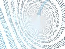 binär tunnel Arkivfoto