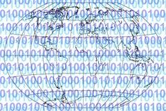 binär värld stock illustrationer