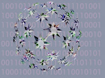 binär värld Royaltyfria Foton